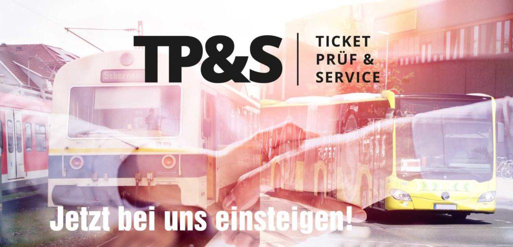 Darstellung Strassenbahn und Bus ,  Text : Jetzt bei uns einsteigen
